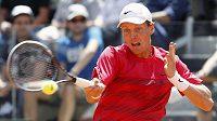 Tomáš Berdych ve čtvrtfinálovém duelu v Římě proti Rafaelu Nadalovi