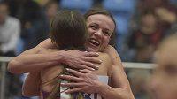 Česká běžkyně Simona Vrzalová (čelem) časem 4:05,73 překonala halový český rekord v běhu na 1500 m.