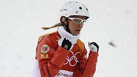 Hanna Huskovová z Běloruska po zlatém skoku.