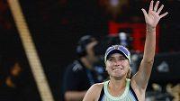 Američanka Sofia Keninová po vítězství ve finále Australian Open 2020.