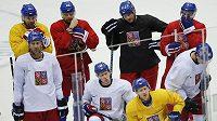 Čeští hokejisté se chystají na vstup do olympijského turnaje.