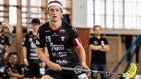 Florbalista Filip Langer, nejmladší kapitán v historii české nejvyšší soutěže.
