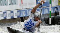 Vítězslav Gebas obsadil třetí místo v závodě singlkanoistů na Světovém poháru ve vodním slalomu v pražské Troji