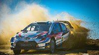 Estonský pilot Ott Tänak s toyotou vstoupil nejlépe do Portugalské rallye.