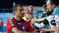 Obránce Erich Brabec si fanoušky Senice rychle získal.