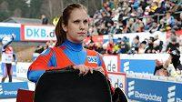 Česká sáňkařka Vendula Kotenová během Světového poháru v německém Altenbergu.