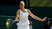 Česká tenistka Karolína Plíšková ve druhém kole Wimbledonu.