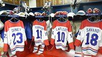 Kabina hokejistů Montrealu ze 70. let - archivní snímek.