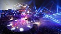 Slavnostní zahájení olympjských her v Jižní Koreji.