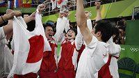 Radost japonských gymnastů