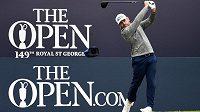 Jihoafrický golfista Louis Oosthuizen v akci na The Open.