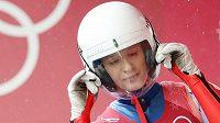 Česká sáňkařka Tereza Nosková během olympijského závodu.
