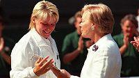 Vévodkyně z Kentu a Jana Novotná na snímku z roku 1997 po finále Wimbledonu.
