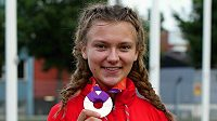 Barbora Malíková se svým juniorským evropským bronzem.