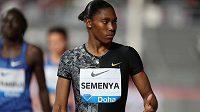 Jihoafrická atletická hvězda Caster Semenyaová.