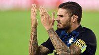 Naštvaný kapitán Interu Milán Mauro Icardi.