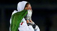 Taekwondistka Kimía Alízadeová a emoce po zisku olympijského bronzu v Rio de Janeiru.