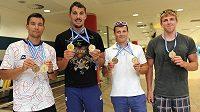 S takovou sbírkou se čtyřkajak (zleva) Jan Štěrba, Josef Dostál, Daniel Havel a Lukáš Trefil vracel z loňského mistrovství Evropy v Portugalsku.