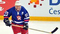 Bohuslav Ebermann při oslavách 100 let českého hokeje.
