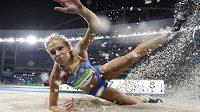 Ruska Darja Klišinová při dálkařské soutěži v Riu.