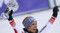 Rakušanka Nicole Schmidhoferová ovládla hodnocení sjezdu Světového poháru.