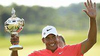 Jhonattan Vegas jásá po triumfu při Canadian Open.
