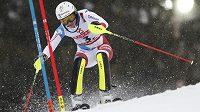 Wendy Holdenerová během slalomu na MS v Aare.