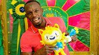 Jen jamajský sprintérský bzázrak Usain Bolt se s olympijským maskotem zvěčnil.