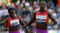 Jamajská sprinterka Veronica Campbellová-Brownová ve finiši závodu na Zlaté tretře.