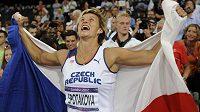 Barbora Špotáková po olympijském triumfu ve finále soutěže oštěpařek