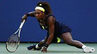 Serena Williamsová bojovala ve finále US Open ze všech sil.