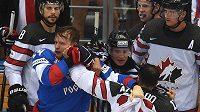 Přátelské utkání Ruska a Kanady v Soči mělo i nepřátelské momenty.