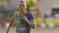 Mezinárodní atletický mítink Memoriál Ludvíka Daňka. Jan Veleba z ČR v běhu na 100 metrů