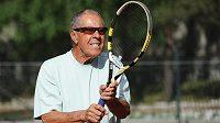 Americký tenisový trenér Nick Bollettieri během návštěvy tenisového klubu LTC Zbraslav.