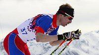 Lukáš Bauer na olympijské trati na 15 kilometrů.