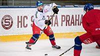 Radek Koblížek během tréninku hokejové reprezentace.