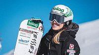 Rakouská snowboardistka Sabine Schöffmannová.
