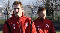 Nové posily fotbalové Slavie - Milan Bortel (vlevo) a Marcel Gecov.