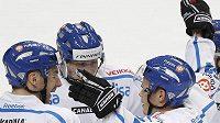 Radost hokejistů Finska