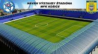 Návrh nového stadiónu MFK Košice.
