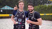 Volejbalisté Jan Hadrava a Donovan Džavoronok ovládli Opava Beach Open, třetí díl Českého poháru.