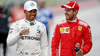 Lewis Hamilton a Sebastian Vettel.