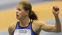 Sprinterka Kateřina Čechová se raduje z přepsání národního rekordu.