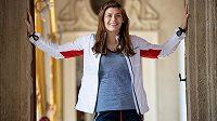 Zápasnice Adéla Hanzlíčková v kolekci oblečení pro 2. Evropské hry.