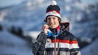 Matěj Švancer se svým zlatem z olympijských her mládeže.