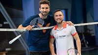 Badmintonista Adam Mendrek (vpravo) a Petr Koukal.