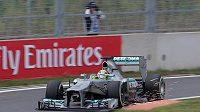 Nico Rosberg ze stáje Mercedes během Velké ceny Koreje.