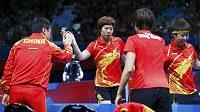 Čínské stolní tenistky jsou ve finále soutěže družstev.