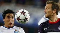 Útočník Austrie Vídeň Tomáš Jun (vpravo) v utkání Ligy mistrů proti FC Porto.
