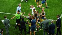 Roztržka německého se švédským týmem po vzájemném utkání na MS 2018.
